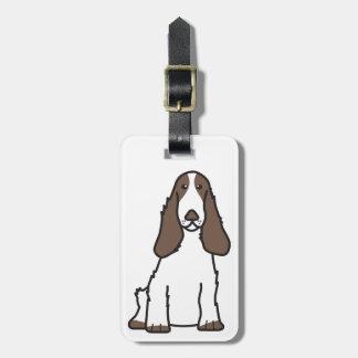 English Cocker Spaniel Dog Cartoon Luggage Tag