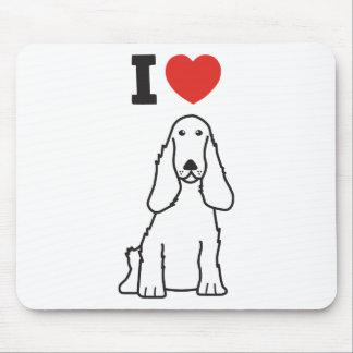 English Cocker Spaniel Dog Cartoon Mouse Pad