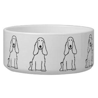 English Cocker Spaniel Dog Cartoon Pet Food Bowls