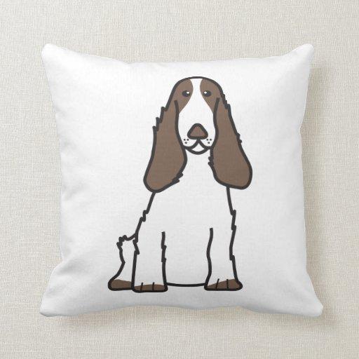 English Cocker Spaniel Dog Cartoon Pillows