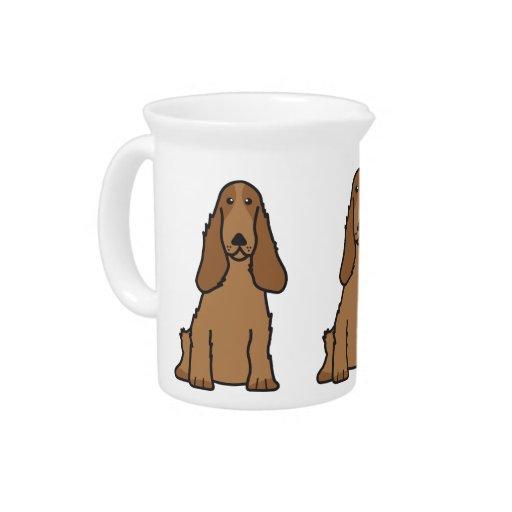 English Cocker Spaniel Dog Cartoon Pitcher