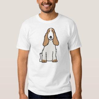 English Cocker Spaniel Dog Cartoon T-shirt
