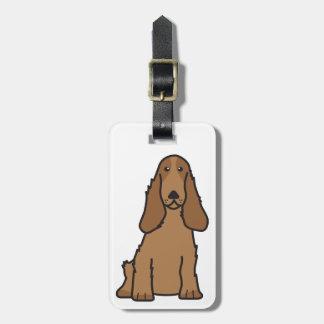 English Cocker Spaniel Dog Cartoon Tag For Luggage