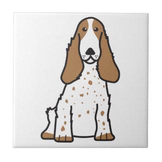 English Cocker Spaniel Dog Cartoon Tile