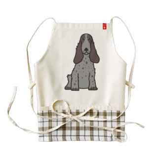 English Cocker Spaniel Dog Cartoon Zazzle HEART Apron