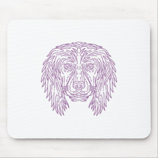 English Cocker Spaniel Dog Head Mono Line Mouse Pad