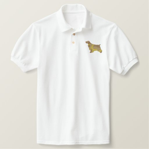 English Cocker Spaniel Embroidered Polo Shirt
