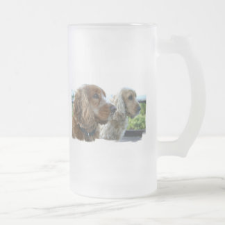 English Cocker Spaniel Frosted Beer Mug