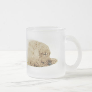 English Cocker Spaniel Frosted Glass Coffee Mug
