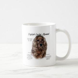 English Cocker Spaniel (liver) History Design Coffee Mug