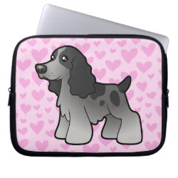 Neoprene Laptop Sleeve 10 inch with Cocker Spaniel Phone Cases design
