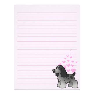 English Cocker Spaniel Love Letterhead