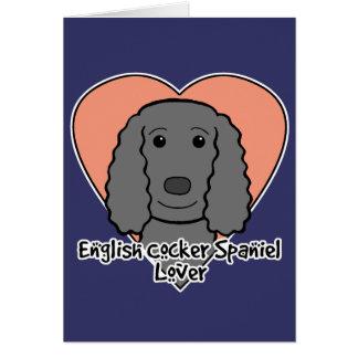 English Cocker Spaniel Lover Card