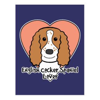 English Cocker Spaniel Lover Postcard