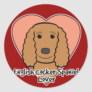 English Cocker Spaniel Lover Round Stickers