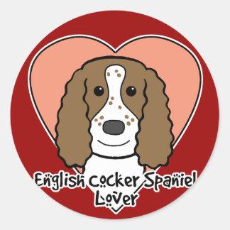English Cocker Spaniel Lover Stickers