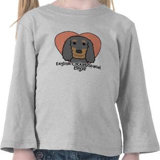 English Cocker Spaniel Lover Tee Shirt