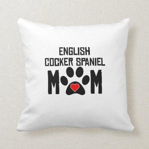 English Cocker Spaniel Mom Pillow