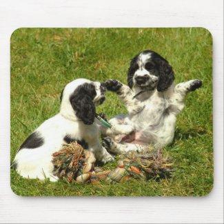 English Cocker Spaniel Puppies Mousepad mousepad