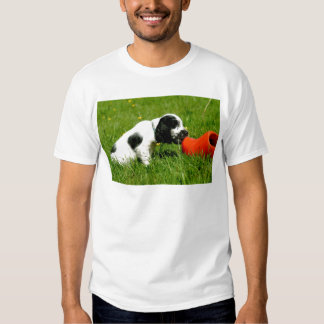 English Cocker Spaniel Puppy with red clog Shirt