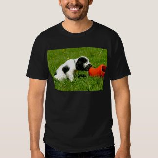 English Cocker Spaniel Puppy with red clog T-shirt