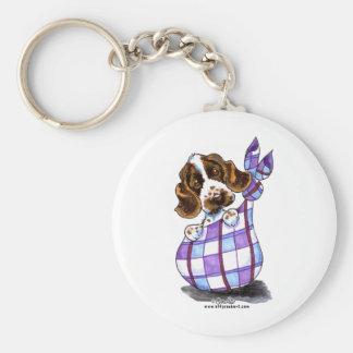 English Cocker Spaniel Sack Puppy Basic Round Button Keychain