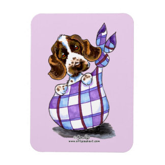 English Cocker Spaniel Sack Puppy Magnet