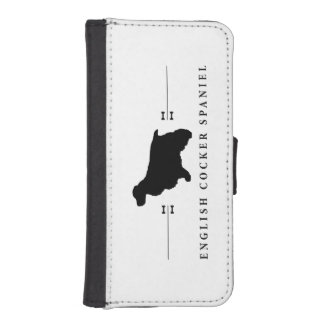 English Cocker Spaniel silhouette -1- iPhone SE/5/5s Wallet