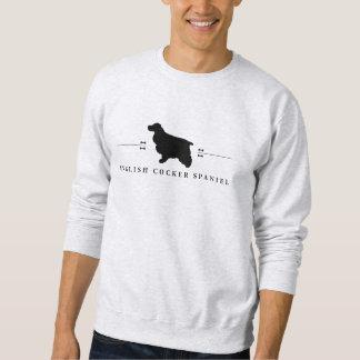 English Cocker Spaniel silhouette -1- Sweatshirt