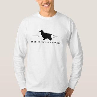 English Cocker Spaniel silhouette -1- T-Shirt