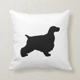English Cocker Spaniel silo black.png Throw Pillow