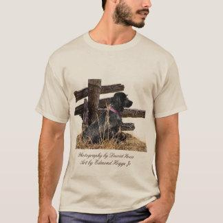 English Cocker Spaniel/ Spaniel Club Logo on Back T-Shirt