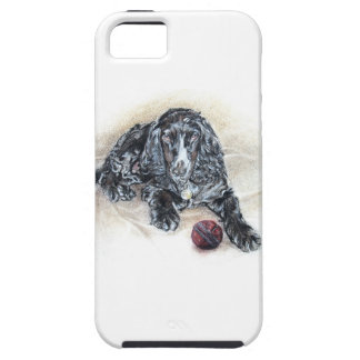 English Cocker Spaniel with Cricket Ball painting iPhone SE/5/5s Case