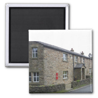 English cottage 2 inch square magnet