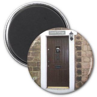 English Cottage Door 2 Inch Round Magnet