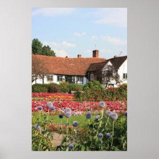 English cottage garden, Amersham, Bucks, UK Poster