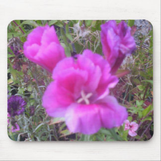 English cottage garden flowers mousepad