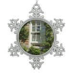English Cottage I Snowflake Pewter Christmas Ornament