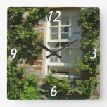 English Cottage I Square Wall Clock