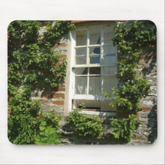 English Cottage I Vine-Covered Wall Photography Mouse Pad