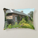 English Cottage II with Flower Garden Photography Accent Pillow