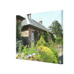 English Cottage II with Flower Garden Photography Canvas Print