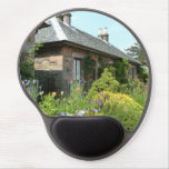 English Cottage II with Flower Garden Photography Gel Mouse Pad