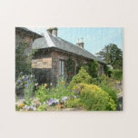 English Cottage II with Flower Garden Photography Jigsaw Puzzle
