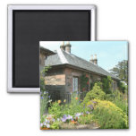English Cottage II with Flower Garden Photography Magnet