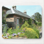 English Cottage II with Flower Garden Photography Mouse Pad