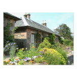 English Cottage II with Flower Garden Photography Photo Print