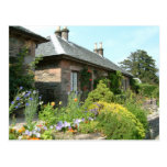 English Cottage II with Flower Garden Photography Postcard