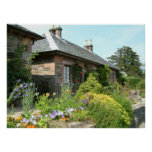 English Cottage II with Flower Garden Photography Poster