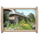 English Cottage II with Flower Garden Photography Serving Tray